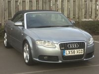 2008 AUDI A4 CABRIOLET 2.0 T FSI SPECIAL EDITION S Line  2d AUTO 197 BHP £4895.00