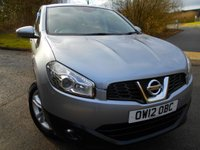 2012 NISSAN QASHQAI 1.5 ACENTA DCI 5d 110 BHP ** ONE PREVIOUS OWNER,  DIESEL, 6 SPEED , ALLOYS , YES ONLY 56K FROM NEW ** £6995.00