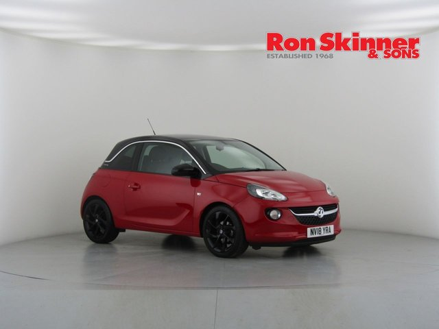View our 2018 18 VAUXHALL ADAM 1.4 SLAM 3d 99 BHP with Black Roof + Technical Pack + 17in Alloys