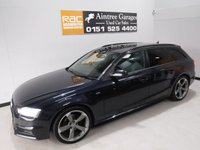 USED 2012 62 AUDI A4 2.0 AVANT TDI S LINE BLACK EDITION 5d AUTO 174 BHP A REAL EXAMPLE OF A STUNNING AND VERY WELL LOOKED AFTER PRESTIGE CAR.  WITH FULL SERVICE HISTORY 6 stamps,  FINISHED IN GLEAMING BLUE WITH FULL GLASS PANORAMIC ROOF,  HALF BLACK LEATHER, ICE COLD AIR CON FOR THOSE HOT SUMMER DAYS, PARKING SENSORS, SAT NAV, 18INCH ALLOYS, MULTI FUNCTION STEERING WHEEL, CRUSE CONTROL, BOSE SOUND SYSTEM  GREAT CAR