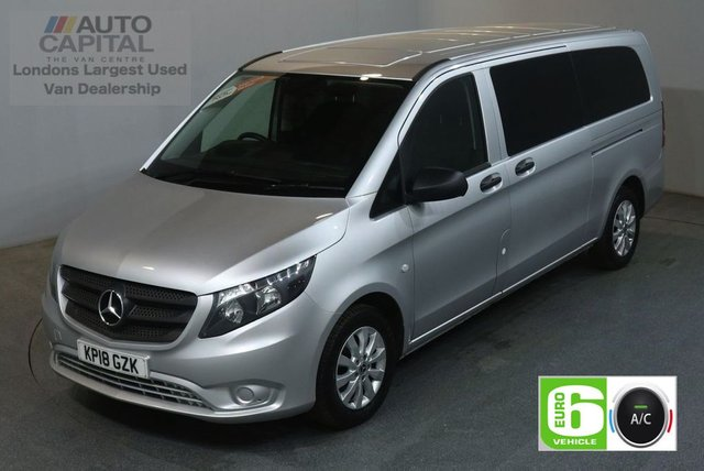 2018 18 MERCEDES-BENZ VITO 2.1 114 BLUETEC TOURER SELECT 136 BHP EURO 6 AIR CON 9 SEATER MINIBUS £24,490+VAT NEW 18 PLATE