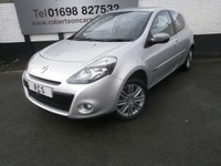 USED 2012 62 RENAULT CLIO 1.2 DYNAMIQUE TOMTOM 16V 3dr LOW INSURANCE GROUP