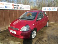 2002 TOYOTA YARIS 1.0 COLOUR COLLECTION VVT-I 3d 64 BHP £1195.00