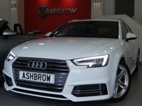 USED 2016 65 AUDI A4 AVANT 2.0 TDI S LINE 5d 150 S/S £30 TAX, 1 OWNER FROM NEW, FULL AUDI SERVICE HISTORY, UPGRADE HEATED FRONT SEATS, UPGRADE PRIVACY GLASS, UPGRADE HILL HOLD ASSIST, UPGRADE ELECTRIC POWER FOLDING + HEATED DOOR MIRRORS, UPGRADE EXTENDED INTERIOR LED LIGHTING (COLOUR CHANGING), UPGRADE INCREASED FUEL VOLUME, UPGRADE AD BLUE TANK, SAT NAV, DAB, BLUETOOTH W/ AUDIO STREAMING, USB X2 + AUX, SD X2, SIM CARD SLOT, AUDI CONNECT, AUDI SMARTPHONE, AUDI PRE SENSE, ELECTRIC TAILGATE, TYRE PRESSURE MONITOR, VAT Q