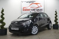 USED 2013 63 KIA RIO 1.2 2 5d 83 BHP **HPI CHECKED AND CLEAR MOT 12/12/2019 WITH A GOOD SERVICE HISTORY WITH THE MAJORITY KIA SERVICING,, AIR CONDITIONING,, ALLOY WHEELS,, USB,, AUX,, BLUETOOTH,, ELECTRIC FRONT AND REAR WINDOWS,, FRONT FOGS,, ISOFIX,, 5 DOOR,,VERY CLEAN THROUGHOUT,, DRIVES SUPERB ON BOTH MOTORWAY AND CITY ROADS WITH 2 FORMER KEEPERS FROM NEW AND COMES WITH TWO KEYS**