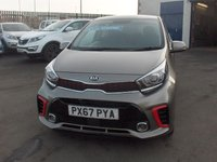 USED 2017 67 KIA PICANTO 1.2 GT-LINE 5d 82 BHP BALANCE OF MANUFACTURERS SEVEN YEAR WARRANTY