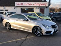 USED 2014 64 MERCEDES-BENZ E CLASS 2.1 E220 CDI AMG Sport Automatic Diesel Coupe