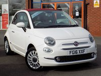USED 2016 16 FIAT 500C 1.2 C LOUNGE CONVERTIBLE NAV 3dr