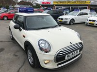USED 2014 14 MINI HATCH ONE 1.2 ONE 3 DOOR 101 BHP IN WHITE WITH PANORAMIC ROOF AND ONLY 33600 MILES. APPROVED CARS ARE PLEASED TO OFFER THIS  MINI HATCH ONE 1.2 ONE 3 DOOR 101 BHP IN WHITE WITH PANORAMIC ROOF AND ONLY 33600 MILES IN GOOD CONDITION INSIDE AND OUT WITH A FULL SERVICE HISTORY AND A GOOD SPEC INCLUDING A PANORAMIC ELECTRIC ROOF,STOP/START,ALLOYS,BLUETOOTH,DAB RADIO AND MUCH MORE A GREAT LITTLE MINI 1.2 AND SUPER ECONOMICAL AND CHEAP TO INSURE.