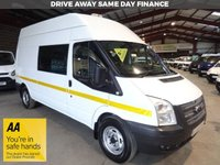 "USED 2013 13 FORD TRANSIT 2.2 350 H/R 125 BHP WELFARE VAN / MESS VAN WITH TOILET ""YOU'RE IN SAFE HANDS"" - AA DEALER PROMISE"