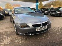 2006 BMW 6 SERIES 3.0 630I 2d AUTO 255 BHP £7999.00