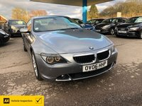 USED 2006 06 BMW 6 SERIES 3.0 630I 2d AUTO 255 BHP NEED FINANCE? WE CAN HELP!