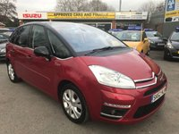 USED 2012 62 CITROEN C4 PICASSO 1.6 PLATINUM EGS E-HDI 5 DOOR AUTO 110 BHP 39800 MILES IN IMMACULATE CONDITION APPROVED CARS ARE PLEASED TO OFFER THIS CITROEN C4 PICASSO 1.6 PLATINUM EGS E-HDI 5 DOOR AUTO 110 BHP 39800 MILES IN METALLIC RED/BLACK IN IMMACULATE CONDITION INSIDE AND OUT WITH A FULL SERVICE HISTORY (BILLS)AND A GREAT SPEC A VERY USUAL MPV BEING AUTOMATIC AND A LOW MILEAGE ONE NOT TO BE MISSED.