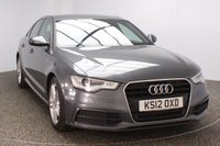 USED 2012 12 AUDI A6 2.0 TDI S LINE 4DR 175 BHP SAT NAV  SERVICE HISTORY + HEATED LEATHER SEATS + SATELLITE NAVIGATION + PARKING SENSOR + HEAD UP DISPLAY + BLUETOOTH + CRUISE CONTROL + CLIMATE CONTROL + MULTI FUNCTION WHEEL + ELECTRIC WINDOWS + XENON HEADLIGHTS + ELECTRIC MIRRORS + 18 INCH ALLOY WHEELS