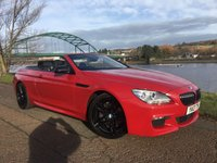 USED 2013 13 BMW 6 SERIES 3.0 640D M SPORT 2d AUTO 309 BHP **STUNNING IMOLA RED WITH BLACK PACK**