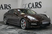 USED 2010 10 PORSCHE PANAMERA 4.8 TURBO PDK 5d 500 BHP PCM - Satellite Navigation + Burmeister High End Surround Sound + Bluetooth Connectivity + Digital TV Tuner + Universal Audio Interface, 20 Inch 911 Turbo II Alloy Wheels, Switchable Sports Exhaust System, Sport Chrono Package, Three Spoke Leather / Walnut Trim Heated Multi Function Steering Wheel, Remote Power Tailgate, Front and Rear Park Distance Control + Reverse Camera, Interior Light Pakage with LED's, Homelink - Garage Door Opener, Digital Dual Zone Climate Control,