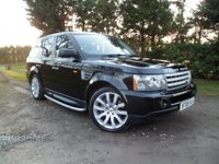 USED 2008 08 LAND ROVER RANGE ROVER SPORT 3.6 TDV8 SPORT HSE 5d AUTO 269 BHP FANTASTIC CONDITION AND SPEC, FACTORY REAR DVD PLAYER, FRIDGE, XENON LIGHTS, NEW COMPRESSOR AND EXCELLENT HISTORY