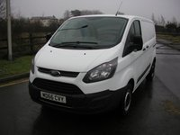 USED 2016 66 FORD TRANSIT CUSTOM 2.0 290 LR P/V 1d 104 BHP Van  38000 miles, Air Con, 1 Owner from New, Manufacturers Warranty