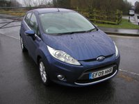 USED 2009 09 FORD FIESTA 1.2 ZETEC 5d 81 BHP 42000 miles, Service History, Air Con