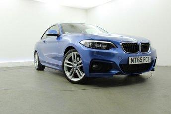 2015 BMW 2 SERIES 2.0 220D M SPORT 2d AUTO 188 BHP £15695.00