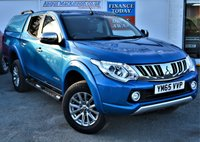 USED 2016 65 MITSUBISHI L200 2.4 DI-D 4X4 WARRIOR 5 Seat Double Cab Pickup Stunning in Electric Blue and Tinted Glass with Truckman Canopy Side Steps Sat Nav Heated Leather Seats Rear Camera and much more **LOW MILEAGE FOR AGE**