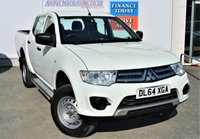 USED 2015 64 MITSUBISHI L200 2.5 DI-D 4X4 4LIFE 5 Seat Double Cab Pickup is Great Value For Money with Very Low Mileage One Owner GREAT VALUE FOR MONEY