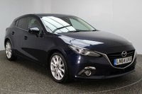 USED 2014 64 MAZDA 3 2.0 SPORT NAV 5DR 118 BHP FULL SERVICE HISTORY 1 OWNER £30 ROAD TAX FULL MAZDA SERVICE HISTORY + £30 12 MONTHS ROAD TAX + SATELLITE NAVIGATION + HEATED SEATS + BLUETOOTH + PARKING SENSOR + CRUISE CONTROL + CLIMATE CONTROL + MULTI FUNCTION WHEEL + BOSE PREMIUM SOUND SYSTEM + PRIVACY GLASS + ELECTRIC WINDOWS + ELECTRIC MIRRORS + 18 INCH ALLOY WHEELS