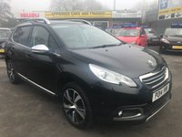 2014 PEUGEOT 2008 1.6 E-HDI FELINE MISTRAL 5 DOOR 113 BHP IN BLACK WITH ONLY 46000 MILES IN IMMACULATE CONDITION. £8299.00