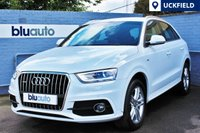 USED 2014 14 AUDI Q3 2.0 TDI QUATTRO S LINE 5d AUTO 175 BHP 1 Owner, Full Audi History, Leather, Sat Nav, Heated Seats, Cruise Control, Voice Command...........