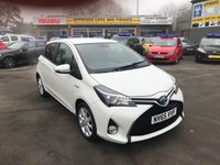 2016 TOYOTA YARIS 1.5 VVT-I SPORT M-DRIVE S 5 DOOR AUTO HYBRID 73 BHP IN WHITE WITH 51400 MILES £10499.00