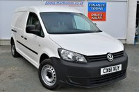 USED 2012 61 VOLKSWAGEN CADDY MAXI 1.6 C20 TDI Great Value Van with Incredible Low Mileage Twin Side Loading Doors ONE REGISTERED KEEPER