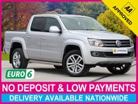 USED 2017 66 VOLKSWAGEN AMAROK 2.0 BiTDI HIGHLINE AUTOMATIC 4MOTION DOUBLE CAB SATELLITE NAVIGATION LEATHER CRUISE CLIMATE ALLOYS