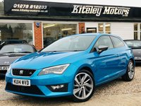 USED 2014 14 SEAT LEON 1.8 TSI FR TECHNOLOGY 3d 180 BHP LEATHER & NAVIGATION