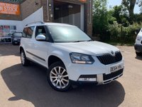 USED 2014 SKODA YETI OUTDOOR SE TDI CR 4X4 A go anywhere 2014 Skoda Yeti 2.0tdi SE CR 4x4 AUTOMATIC in white with FSH and 2 keys. Supplied with an independent AA inspection report.