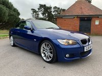 USED 2010 10 BMW 3 SERIES 2.0 320I M SPORT 2d 168 BHP CONVERTIBLE M SPORT CONVERTIBLE WITH FSH AND SPORTS LEATHER SEATS
