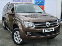 USED 2011 61 VOLKSWAGEN AMAROK 2.0 DC TDI TRENDLINE 4MOTION 4x4 5 Seat Double Cab Pickup with NO VAT TO PAY so SAVE 20% Stunning Colour with Tinted Glass Rear Canopy Rear Step Side Steps Towbar PERFECT PICK UP