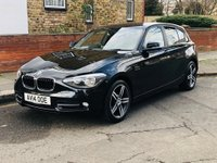 USED 2014 14 BMW 1 SERIES 1.6 116i Sport Sports Hatch 5dr Petrol Automatic (s/s) (134 g/km, 136 bhp) MAIN DEALER HISTORY, 2 KEYS