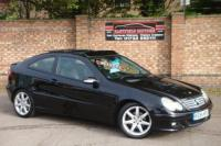 USED 2005 54 MERCEDES-BENZ C-CLASS 2.1 C220 CDI SE SPORTS 3d AUTO 148 BHP PAN-ROOF+FULL LEATHER SEATS