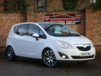 "USED 2011 61 VAUXHALL MERIVA 1.4 EXCLUSIV LIMITED EDITION 5d 119 BHP 18""ALLOYS+BLUTOOTH+CRUISE+2KEY"