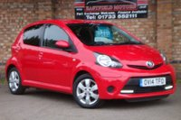 USED 2014 14 TOYOTA AYGO 1.0 VVT-I MOVE WITH STYLE 5d 68 BHP +£0 TAX+SAT-NAV+AIR-CON+2 KEYS
