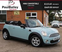 USED 2012 12 MINI CONVERTIBLE 1.6 ONE 2d 98 BHP FULL SERVICE HISTORY!