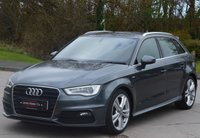 USED 2014 14 AUDI A3 2.0 TDI S LINE 5d 148 BHP ***FULL LEATHER HEATED S-LINE SEATS*** ***SAT-NAV***