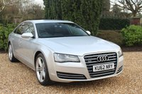 USED 2012 62 AUDI A8 3.0 TDI QUATTRO SE EXECUTIVE 4d AUTO 247 BHP * 8 SERVICES AND IMMACULATE *