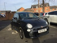 USED 2014 14 FIAT 500 1.2 S 3d 69 BHP ONLY 19495 MILES FROM NEW, EXCELLENT FUEL ECONOMY AND CHEAP TO RUN. LOW CO2 EMISSIONS (113G/KM) £30 ROAD TAX  GREAT SPECIFICATION INCLUDING AIR CONDITIONING,TRACTION CONTROL, CENTRAL LOCKING, ELECTRIC WINDOWS,ALLOY WHEELS, ABARTH STYLE STEERING WHEEL, CITY STEERING BUTTON AND BLUETOOTH