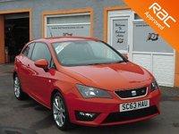 USED 2014 63 SEAT IBIZA 1.2 TSI FR 3d 104 BHP 17 inch Alloys, Sat Nav, Bluetooth,