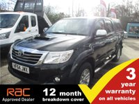 USED 2014 64 TOYOTA HI-LUX 3.0 INVINCIBLE 4X4 D-4D DCB 1d 169 BHP 3 year RAC Warranty
