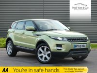 USED 2013 62 LAND ROVER RANGE ROVER EVOQUE 2.2 SD4 PURE 5d AUTO 190 BHP LOW MILEAGE,LEATHER,DAB,CRUISE