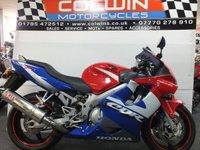 2001 HONDA CBR600F 599cc  £2795.00