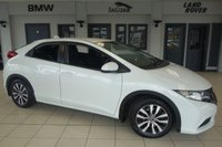 USED 2015 64 HONDA CIVIC 1.6 i-DTEC S 5d 118 BHP FINISHED IN STUNNING ORCHID WHITE WITH ANTHRACITE CLOTH SEATS +  A 1 OWNER FULL SERVICE HISTORY GEM + BLUETOOTH + ZERO ROAD TAX +  UNMARKED 17 INCH DIAMOND CUT ALLOYS + CLIMATE CONTROLLED AIR CONDITIONING + MULTIFUNCTION STEERING WHEEL + LED DAYTIME RUNNING LIGHTS.....
