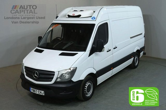2017 67 MERCEDES-BENZ SPRINTER 2.1 314CDI 140 BHP MWB H/ROOF EURO 6 FRIDGE VAN EURO 6 ENGINE REVERSE SENSORS